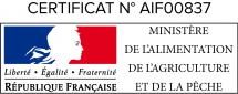 Certificat d'agrément du ministere de la peche et de l'agriculture