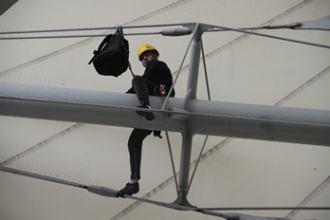 Alpiniste au stade Charléty