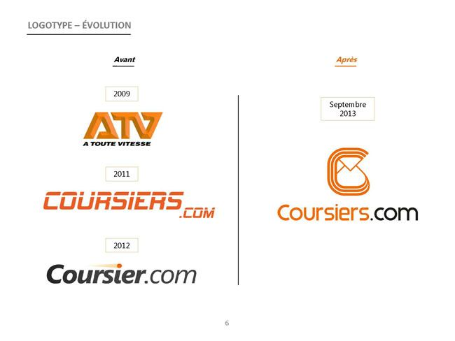 Evolution logo coursiers.com